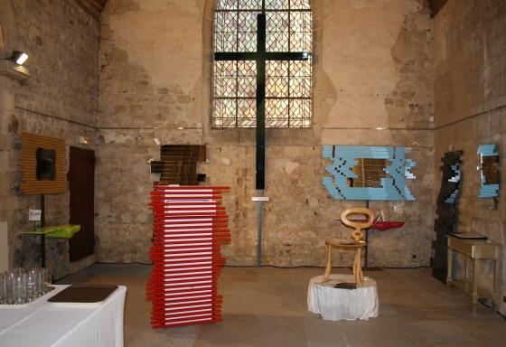Exposition art Deauville,création meubles déco Deauville,création de santos