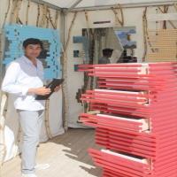 Meubles design françaisde Mickaël de Santos étaient présent sous le superbe soleil de Saint Tropez.Le designer Normand ne louppe aucune occasion pour ce faire connaitre