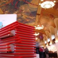 Designer Paris,Exposition  Mairie15 ème Paris avec designer Francais Mickaël de Santos.miroirs design,commode design,Député-maire 15e Philippe Goujon, créations desantos