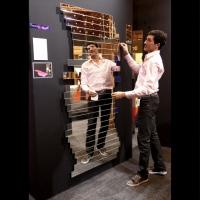 miroir modulable 100% Design Londres créé par le designer français Mickaël de santos. présentation des créations desantos