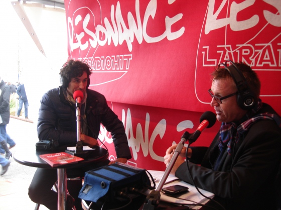 Interview en direct sur la radio Normande Résonnance.