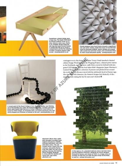 Mickael de Santos ne laisse personne indiférent avec son miroir sculpturale, magazine « Azure »
