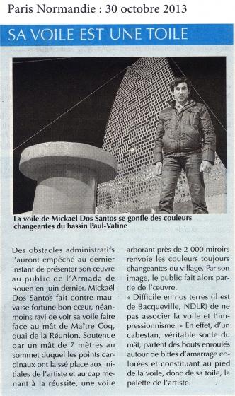 L'oeuvre monumentale sur la Transat Jacques Vabre 2013-