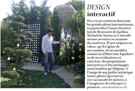 Créateur Designer à Saint Tropez,Mickael de Santos réalise une jolie mise en scène en employant des miroirs
