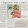 Designer pour Paris Normandie,le créateur Mickael de Santos présente ses meubles design aux Andelys près de Rouen