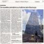 Article dans Ouest France-Exposition de l'oeuvre monumentale sur BOAT EXPO