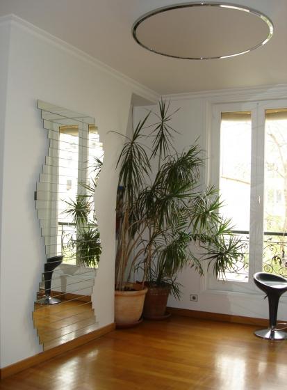 Miroir déco Levallois Perret,choisissez les étonnants miroirs design du créateur des miroirs modulables,Mickaêl de Santos