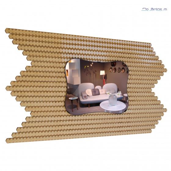 Miroir d coratif bernay ou lillebonne miroirs modernes aux for Miroir zigzag